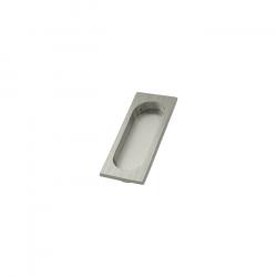 Custom Service Hardware DA.FP4134U19 Solid Brass Flush Pull Satin Nickel