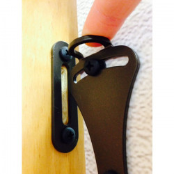 Custom Service Hardware QG.1307.01 Sliding Door Latches & Strike Plate