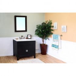 """Bellaterra 600168 36 In Single Sink Vanity-Wood - 36x22x36"""""""