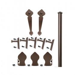 Custom Service Hardware QG.1100.NH.07-NR Spade Non-Hammered Hardware Short Bracket Oil Rubbed Bronze (No Rail)