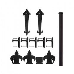 Custom Service Hardware QG.1200.08-NR Fleur-de-Lis Hardware Short Bracket Kit Black(No Rail)