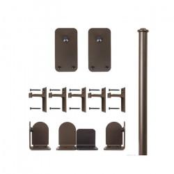 Custom Service Hardware QG.1300.BR.07-NR Basic Rectangle Hardware Short Bracket Kit Oil Rubbed Bronze (No Rail)