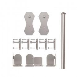 Custom Service Hardware QG.1300.C2.02-NR Castle 2 Hardware Short Bracket Kit Satin Nickel