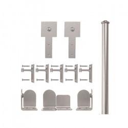 Custom Service Hardware QG.1300.CS.02-NR Cube Stick Hardware Short Bracket Kit Satin Nickel