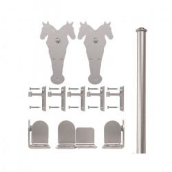 Custom Service Hardware QG.1300.DH.02-NR Double Horse Hardware Short Bracket Kit Satin Nickel