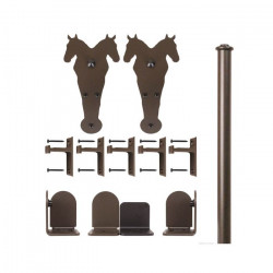 Custom Service Hardware QG.1300.DH.07-NR Double Horse Hardware Short Bracket Kit Black