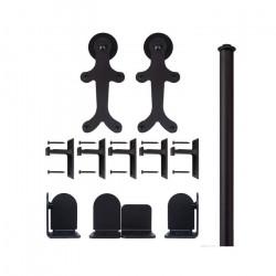 Custom Service Hardware QG.1300.GB.08-NR GingerBread Hardware Short Bracket Kit Black