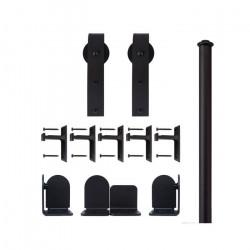 Custom Service Hardware QG.1300.HK.08-NR Hook Hardware Short Bracket Kit Black