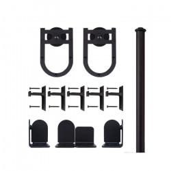 Custom Service Hardware QG.1300.HS.08-NR Horseshoe Hardware Short Bracket Kit Black