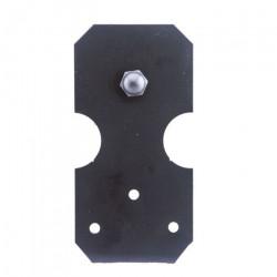 Custom Service Hardware QG.1310.NR.08-NR Notched Rectangle Hardware Short Bracket Kit Black