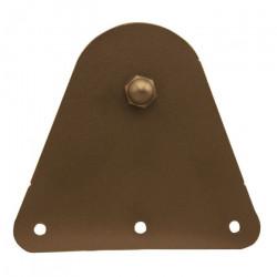 Custom Service Hardware QG.1310.T.07-NR Triangle Hardware Short Bracket Kit Oil Rubbed Bronze