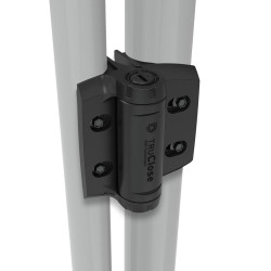 D&D TCHDRND1S3 TruClose Adjustable & Heavy-Duty, Self Closing Hinge for Round Post Gates