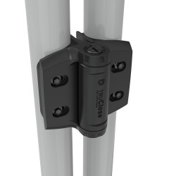 D&D TCHDRND2S3 TruClose Adjustable & Heavy-Duty, Self Closing Hinge for Round Post Gates