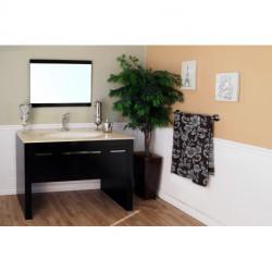 "Bellaterra 804380 55.3 In Single Sink Vanity-Dark Walnut - 55.3x23.6x36"""