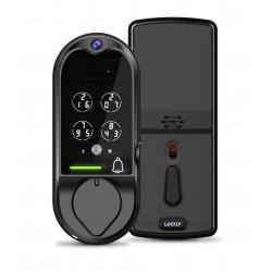 LOCKLY PGD798SN Vision Deadbolt + Video Doorbell - Satin Nickel