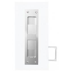 Accurate Lock & Hardware VT.2002Q-5 Privacy Pocket Door Lock w/ Integrated Edge Pull