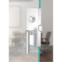 """Accurate Lock & Hardware GS87 Series Glass Patch Hardware Set, 2"""" Backset, Door Th"""
