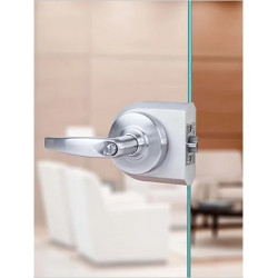 """Accurate Lock & Hardware G-CYL Series Glass Patch/Cylindrical Lock, 2-3/4"""" Back"""