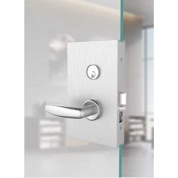 """Accurate Lock & Hardware G-ML Series Glass Patch/Mortise Lock, 2-3/4"""" Ba"""