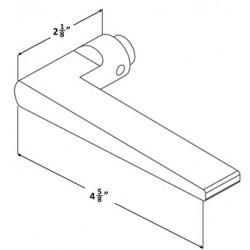 Accurate Lock & Hardware 18L Lever