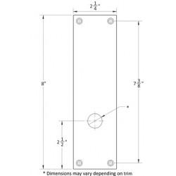 Accurate Lock & Hardware 1E-BD Blank Escutcheon Plate