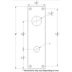 Accurate Lock & Hardware 1E-C Escutcheon Plate w/ Cylinder Cutout
