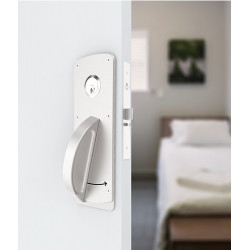 Accurate Lock & Hardware CH Ligature Resistant Crescent Mortise Set, High Security Mortise Lock