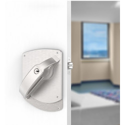 """Accurate Lock & Hardware LRCCS Ligature Resistant Crescent Cylindrical Set, Door Thickness - 1-3/4"""", Strike-ASA"""