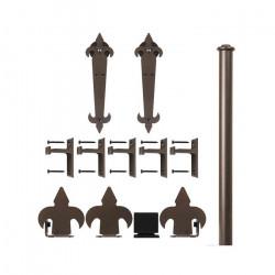 Custom Service Hardware QG.1210.NH. Fleur-de-Lis non-hammered Hardware Short Bracket Kit