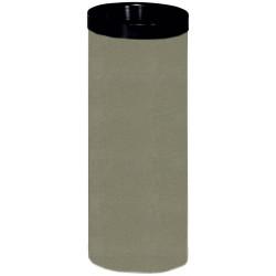 Peter Pepper 28 Steel Wastebasket With Black Top Ring
