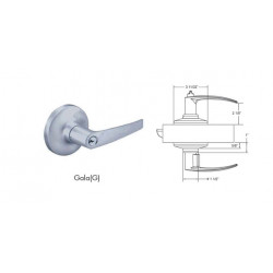 TownSteel CEI series Grade 1, Non-Clutched - Extra Heavy duty Cylindrical - Small Format I.C.