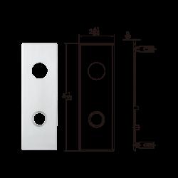 TownSteel MSE Grade 1 Heavy Duty Mortise Lock - Designer Escutcheon