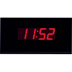 Peter Pepper Z18 Segmented LED Standard Electronic Digital Clock Graphite Anodized Aluminum