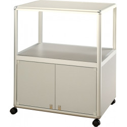 Peter Pepper 7805 TV/DVD Cart With Locking Storage Base And 1 Shelf