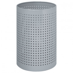 Peter Pepper 22 Cylindrical Steel Wastebasket With Square