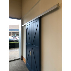 """Cavity Sliders TSWM CS WallMount Track Kit (including fascia and end caps) Suits 1-3/8"""" to 1-3/4"""" door thickness"""