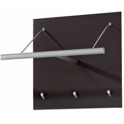 Peter Pepper 2189 Artform Logo Coat Rack Hanger Bar And Three Hooks, Aluminum Metallic