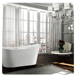 Bellaterra BA6805 Bergamo 67 inch Freestanding Bathtub in Glossy White
