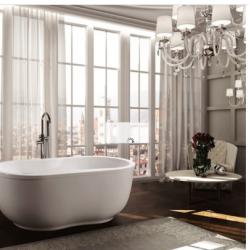 Bellaterra BA6811 Brescia 65 inch Freestanding Bathtub in Glossy White