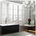 Bellaterra BA6813BL Brindisi 59 inch Freestanding Bathtub in Glossy Black
