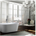 Bellaterra BA68 Calabria inch Freestanding Bathtub in Glossy White