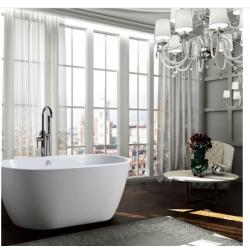 Bellaterra BA68 59 inch Freestanding Bathtub in Glossy White
