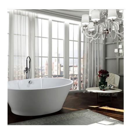 Bellaterra BA6823 Lecce 67 inch Freestanding Bathtub in Glossy White