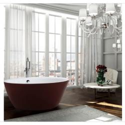 Bellaterra BA6832RD Prato 59 inch Freestanding Bathtub in Glossy Red