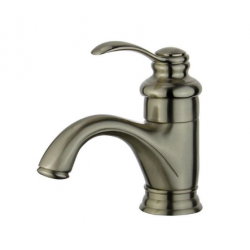 Bellaterra 10118A1-BN-W Barcelona Single Hole Single Handle Bathroom Faucet with Overflow Drain in Brushed Nickel