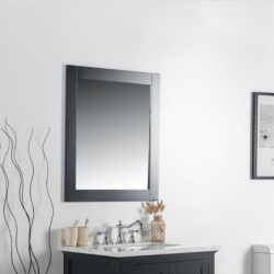 "Bellaterra 7700-28-M 28"" Solid Wood Frame Mirror"