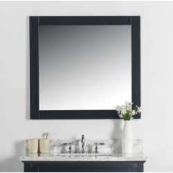 "Bellaterra 7700-34-M 34"" Solid Wood Frame Mirror"