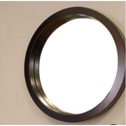 Bellaterra 804338-MIRROR-ES 21.7 in Round Mirror-Wood, Finish- Espresso