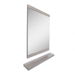 Bellaterra 804353-MIRROR-GY 23.6 in Mirror-Wood, Finish- Gray