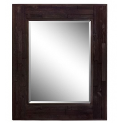 "Bellaterra 808208-M 29"" Rectangle Wood Frame Mirror, Finish- Dark Brown"